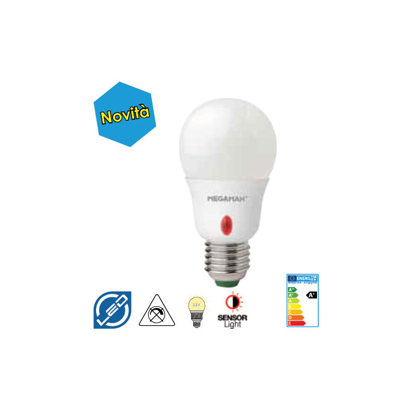 LED 8W E27 sensore crepuscolare