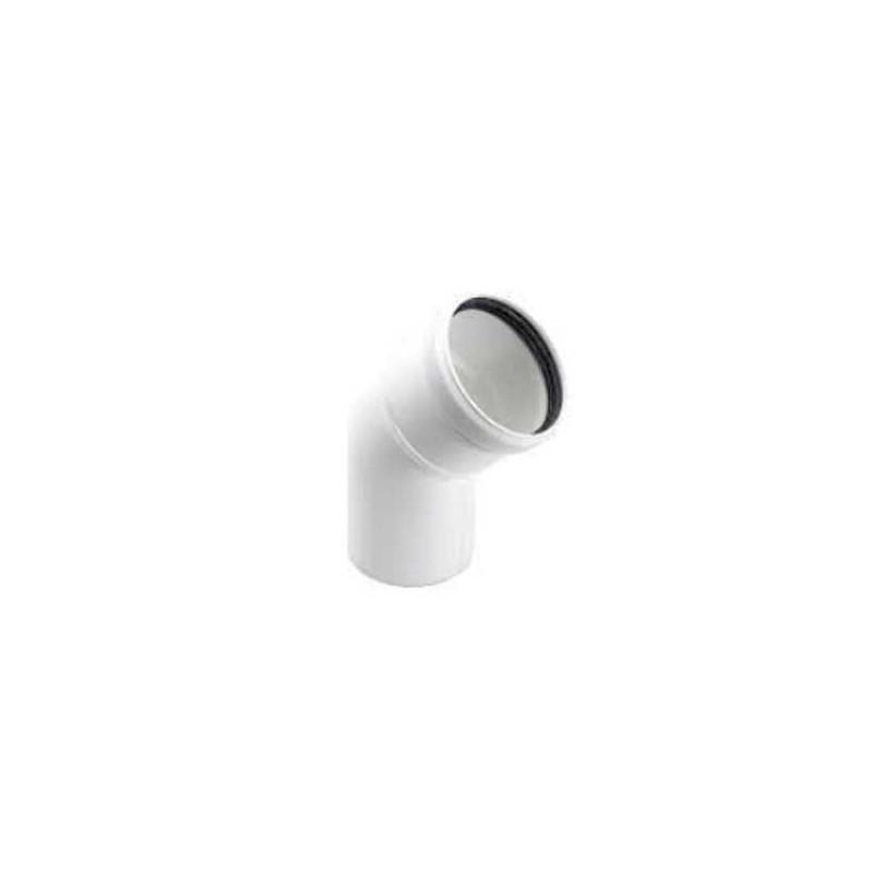 CURVA 45° BIANCA diametro 80mm in PPS