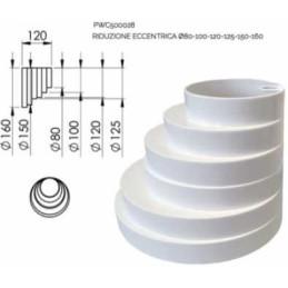 Riduzione ECCENTRICA 80-100-120-125-150-160 bianca (pvc)