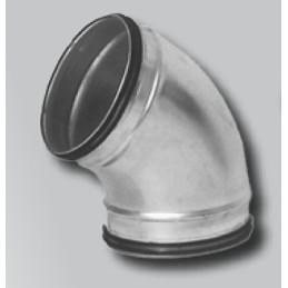 Curva acciaio zincato 80mm 90°