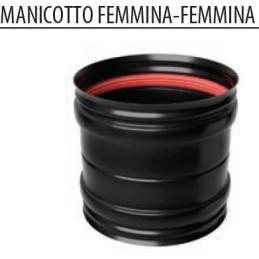 Manicotto FF 80 / 100 mm INOX verniciato nero