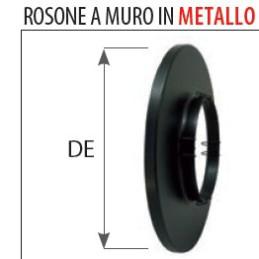 Rosone 80 o 100 mm metallo nero