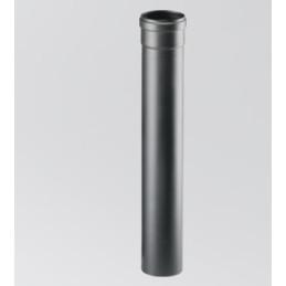Tubo scarico fumi pellet INOX nero 1 mt d.80 o 100 mm