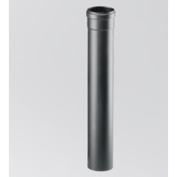 Tubo scarico fumi pellet INOX nero 0.25 mt
