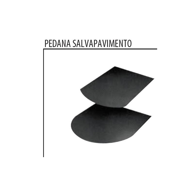 Pedana salva pavimento per stufe in acciaio