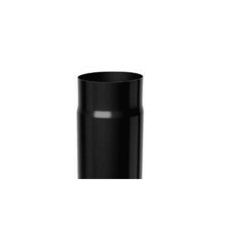 Tubo lineare 1 mt acciaio nero per stufe a legna