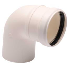 CURVA 90° BIANCA diametro 80mm in PPS