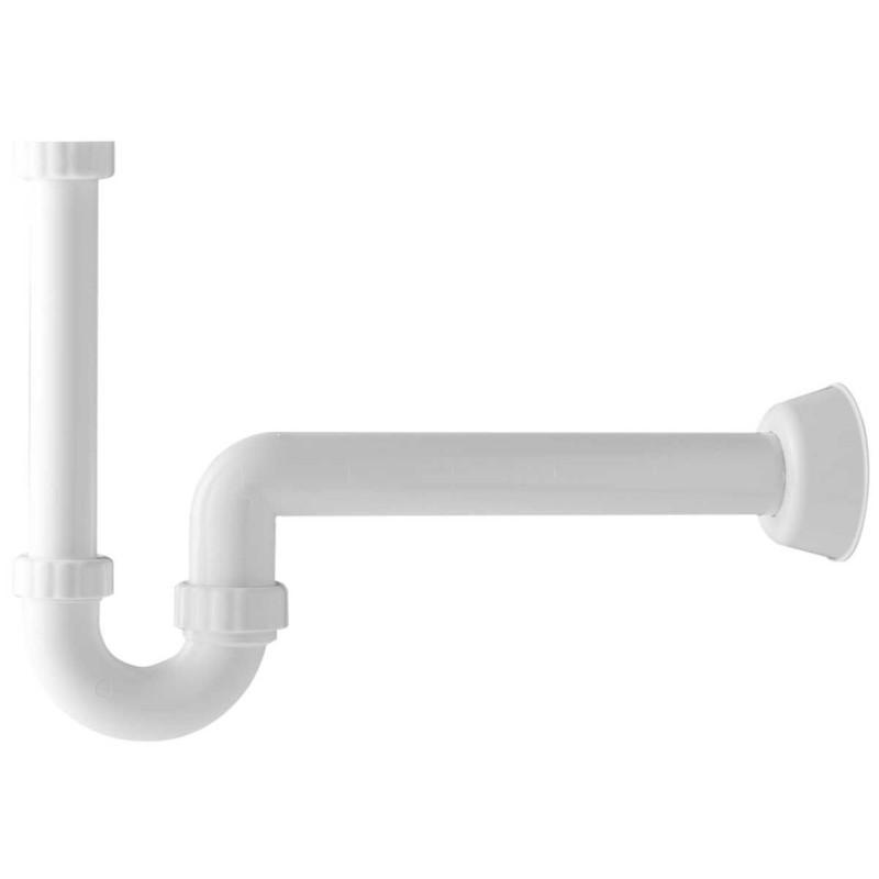 Sifone PP bianco per lavabo d. 40mm