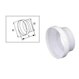 Riduzione 150-125 plastica bianca (pvc)