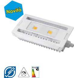 ED R7S 9 W luce calda 118 mm