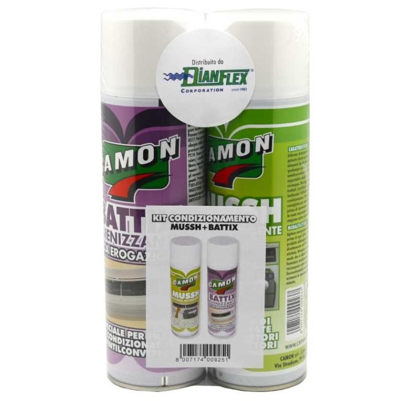 Kit spray pulizia e disinfezione condizionatori MUSSH + BATTIX